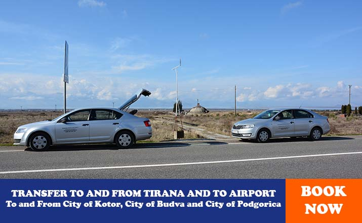 TRANSFER TO AND FROM TIRANA AND TO AIRPORT